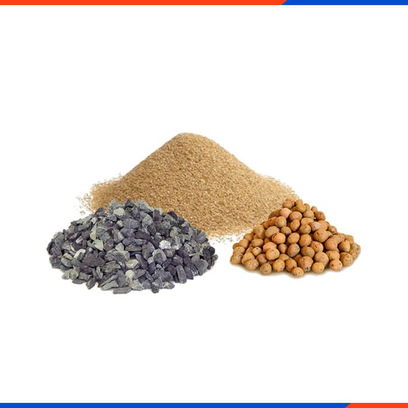 Песок, щебень, отсев, керамзит и пр.