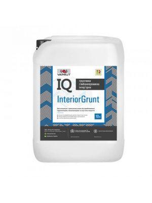 Грунтовка IQ Interior Grunt 10л, глубокопроникающая інтер'єрна для зміцнення і просочення підстав