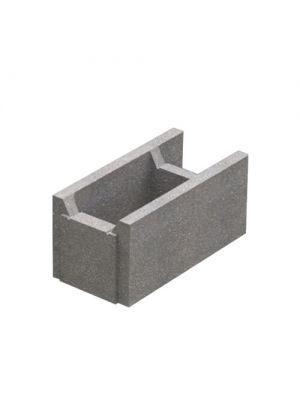 Блок бетонний незнімної опалубки 510х250х235