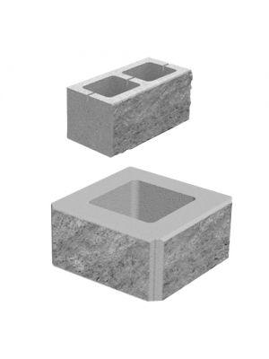 Блок декоративний (400х200х200) сірий (2-х сторонній скол)