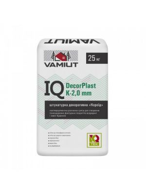 IQ DecorPlast K 2.0mm штукатурка полимерцементная Vamiut