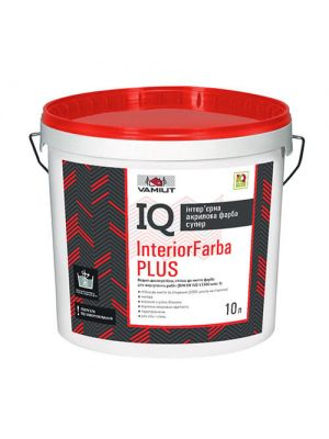 Водно-дисперсійна акрилова фарба Vamiut IQ InteriorFarba Plus 10л