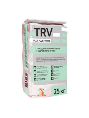 Белый Клей шпаклевка TRV Block White Plus