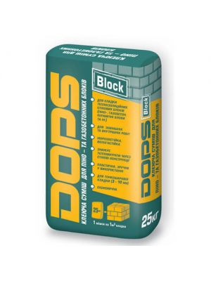 Клей для кладки газоблоку DOPS Block (25кг)
