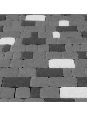 Тротуарная плитка Старый город белая 60мм Золотой Мандарин