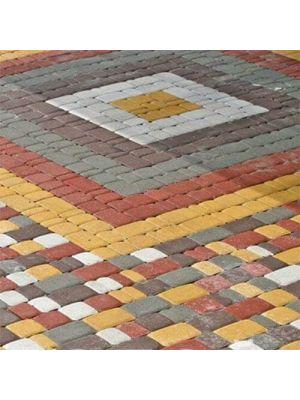 Тротуарная плитка Старый город красная 60мм Золотой Мандарин