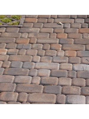 Тротуарная плитка Старый город коричневая 60мм Золотой Мандарин