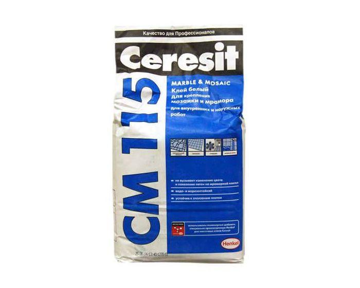 Ceresit СМ 115 Клей для мраморной плитки, мозаики 25 кг