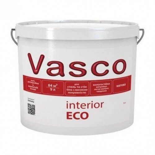 Краска интерьерная Interior ECO VASCO белая 9л