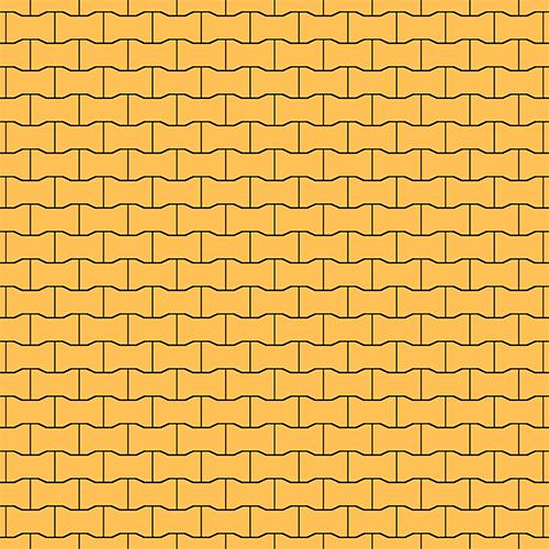 "Тротуарна плитка Золотий Мандарин ""Подвійне Т"" Жовта 80мм"