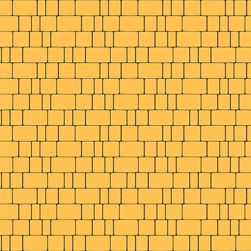 "Тротуарная плитка Золотой Мандарин ""Старый город"" Желтая 40мм"