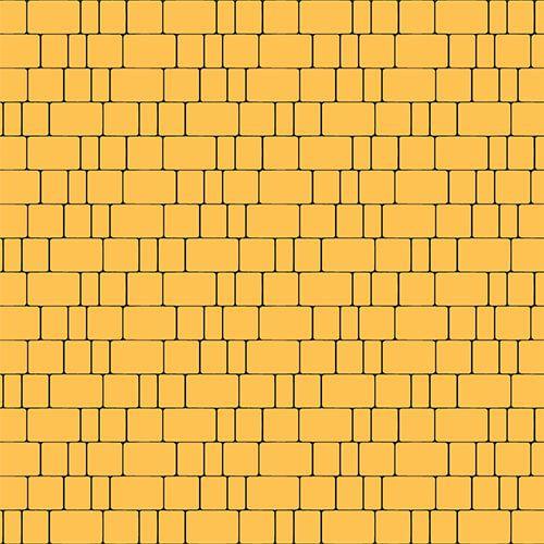 "Тротуарная плитка Золотой Мандарин ""Старый город"" Желтая 60мм"