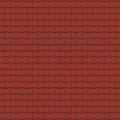 """Тротуарна плитка Золотий Мандарин """"Подвійне Т"""" Червона 80мм"""