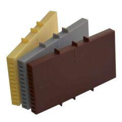 Вентиляционная коробочка коричневая 115х60х9мм