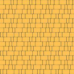 Тротуарная плитка Старый город желтая 60мм Золотой Мандарин
